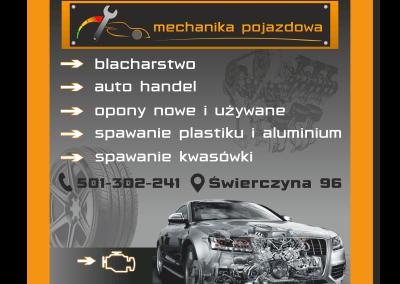 Baner Mechanika pojazdowa