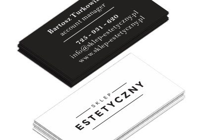 Wizytówka Sklep Estetyczny