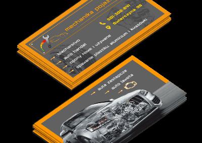 Wizytówka Mechanika Pojazdowa